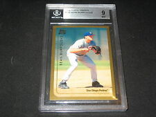SEAN BURROUGHS 1999 TOPPS ROOKIE AUTHENTIC BASEBALL CARD BECKETT GRADED MINT 9