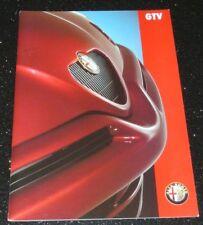 ALFA ROMEO GTV 2.0 16v TWIN SPARK BROCHURE 1996. ENGLISH TEXT. EXCELLENT COND