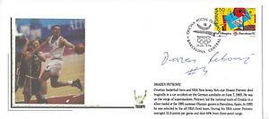 DRAZEN PETROVIC NETS 1992 OLYMPICS SIGNED COMMEMORATIVE ENVELOPE - DECEASED