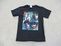 Beatles Shirt Adult Small Black Green Rock Concert Band Music Tour Mens *