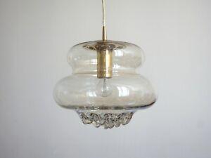 peill & putzler glas lampe deckenlampe 60er pendant lamp mid century design