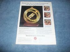 1990 Franklin Mint Maritime Universal Ring Dial Vintage Ad