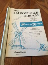 THE IMPOSSIBLE DREAM Piano Vocal Sheet Music MAN OF LA MANCHA Mitch Leigh 1965