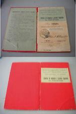Libretto di deposito a piccolo risparmio al portatore NUOVO CREDITO UMBRO 1918
