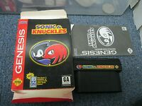 Sega Genesis Sonic & Knuckles with Box Game