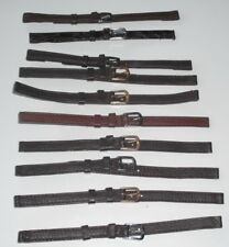 10 x Wholesale Job Lot 3 x Regular & 7 Extra-Long Brown Leather watch straps 8mm