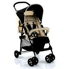 HAUCK ALMOND / CAVIAR SPORT PUSHCHAIR LIGHTWEIGHT BABY STROLLER BUGGY FROM BIRTH