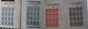 Litauen, 4 Bogen  postfrisch die ersten Briefmarken von Litauen 5,10,20,50 Wert