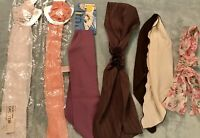 Lot of 6 Vintage Estate Neck Scarves 60's-70's Variety Half Are New In Package