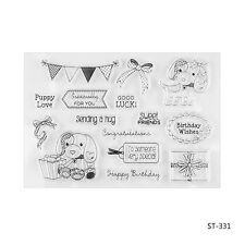 Birthday Wish Clear Stamps for DIY Scrapbook Decor Card Making Crafts Supplies