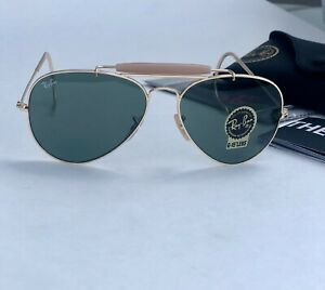 Ray-Ban Outdoorsman Gold Frame With Classic Green Lens RB3030 L0216 58MM