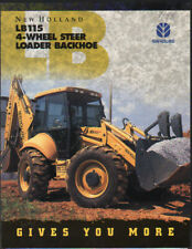 "New Holland ""LB115"" 4-Wheel Steer Loader Backhoe Brochure Leaflet"