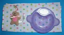Zapf Baby Born Doll Plush Mini Teddy Bear, Baby Born Dish and Polka Dot Blanket