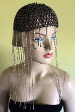 Ancient Egyptian Cleopatra beaded Headpiece Crochet Hand made with Beads