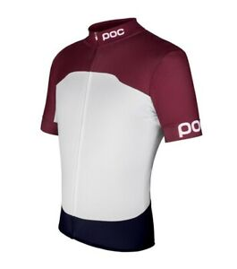 POC Raceday Climber Cycling Jersey Short Sleeve Mens Size L Granate Red & White