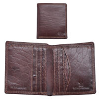 Mens Gents Luxury Slim RFID Blocking Genuine Wallet Purse Card Holder Brown
