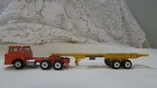 Yatming Orange Tractor and Yellow Trailer