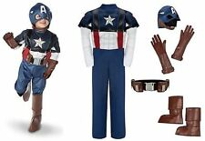 Disney NWT Captain America Costume Kids Avengers small 5/6 5 6 boots gloves 2011