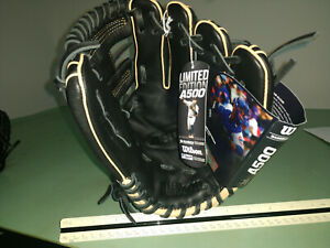 🔥Wilson A500 Youth Baseball Black Leather Glove 11 Inch RHT Wilson LE