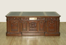 SALE - 7ft Solid Mahogany Presidential Oval Office Resolute Desk   F-1495