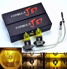 Halogen H3 55W 3000K Yellow Two Bulbs Fog Light Fit Replace Lamp Aftermarket OE