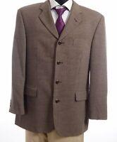 JOOP! Sakko Jacket Gr.54 braun Hahnentritt Einreiher 4-Knopf Super 100's -S337