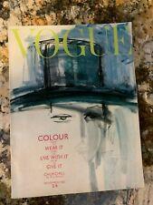 Gladys Perint Parlmer Winston Churchill British UK VOGUE Magazine Nov. 1962 VTG