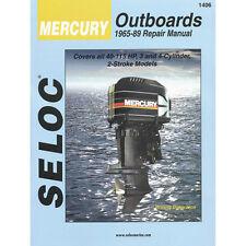 SELOC MERCURY OUTBOARD MOTOR ENGINE REPAIR MANUAL #1406 1965-89 3 - 4 cyl