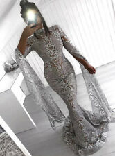 Mermaid Sparkling Gown Red Carpet Evening Prom Occasion Unique Dress