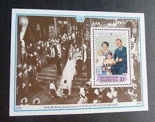 Barbuda 1987 Royal 40th wedding anniversary MS UM MNH unmounted mint