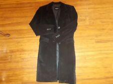 Womens Black Suede Coat Size 8