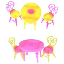 Table chaise Barbie Poupées Dollhouse salle à manger cuisine décor meubles jouet