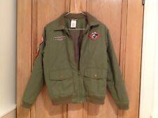Disney Parks jacket, boy/girl age 12 khaki green bomber style mickey