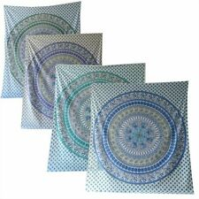 Elefanten Pfau Mandala Tagesdecke - Wandbehang - Dekotuch - div Farben