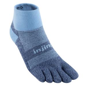 Injinji Trail Midweight Mini-Crew Running Toe Socks (Powder Blue)