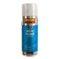 x6 Hycote® 400ml White Primer Aerosol Car Spray Paint Tough Acrylic Formula