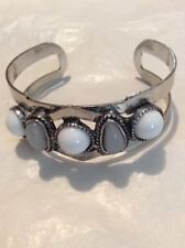 AVENTURINE &WHITE TURQUOISE CUFF BRACELET FITS 6TO 8 INCH