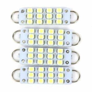 4 x 561 562 567 564 12 SMD 44mm Rigid Loop White LED Car Auto Lights Bulbs 12V
