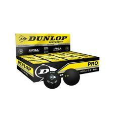 New listing 3x12 DUNLOP PRO DOUBLE YELLOW PSA SQUASH BALLS RRP $210