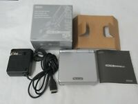 L508 Nintendo Gameboy Advance SP console Platinum Silver Japan GBA w/box Adapte