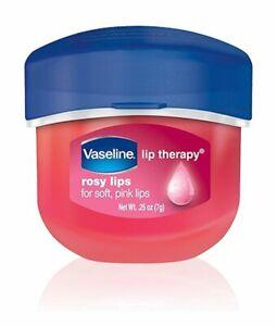 New Vaseline Lip Therapy Lip Balm Mini, Rosy, 0.25 oz