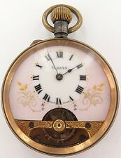 .VERY NICE / VINTAGE HEBDOMAS STYLE 8 DAYS POCKET WATCH, GREAT DIAL, WORKING.