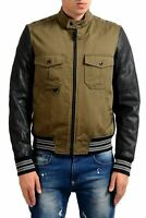 Just Cavalli Men's Green Full Zip Bomber Jacket US S IT 48