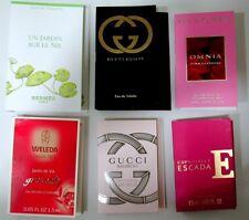 6x Luxus Duft-Probe Parfum Mini: Hermes Jardin Nil /Gucci /Escada/Bvlgari/Weleda