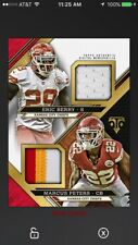 2017 Topps Huddle Triple Threads Duel Relic Eric Berry Marcus Peters Chiefs