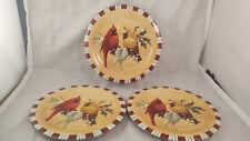 Set of 3 Lenox Winter Greetings Everyday Salad Plates - Cardinals