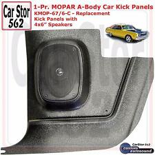 "Custom Autosound KMOP-67/6-COM Kick Panels&4x6"" Speakers 64-76 Mopar ""A"" Body"