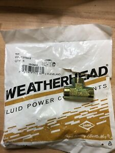 "(5ea) Weatherhead Eaton C3709X4 1/4"" NPT Female Tee"