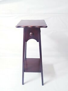 Antique Tall 2 Tier Mahogany Wood Ornament/Statue/Plant Stand