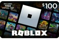 $100 *ONE HUNDRED* $100 Roblox Giftcards Physical Card Roblox